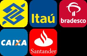 Caixa, Bradesco, Itaú, Banco do Brasil e Santander